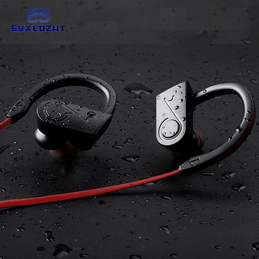 цена на SYXLDZHT bluetooth headphone wireless bluetooth earphone sport headset waterproof bass with mic for xiaomi iPhone