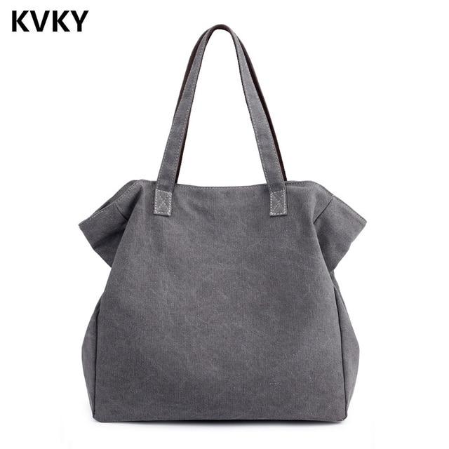72781ce06 Bolsos de lona de Mujer Bolsos de hombro de cubo negro bolsas casuales de gran  capacidad