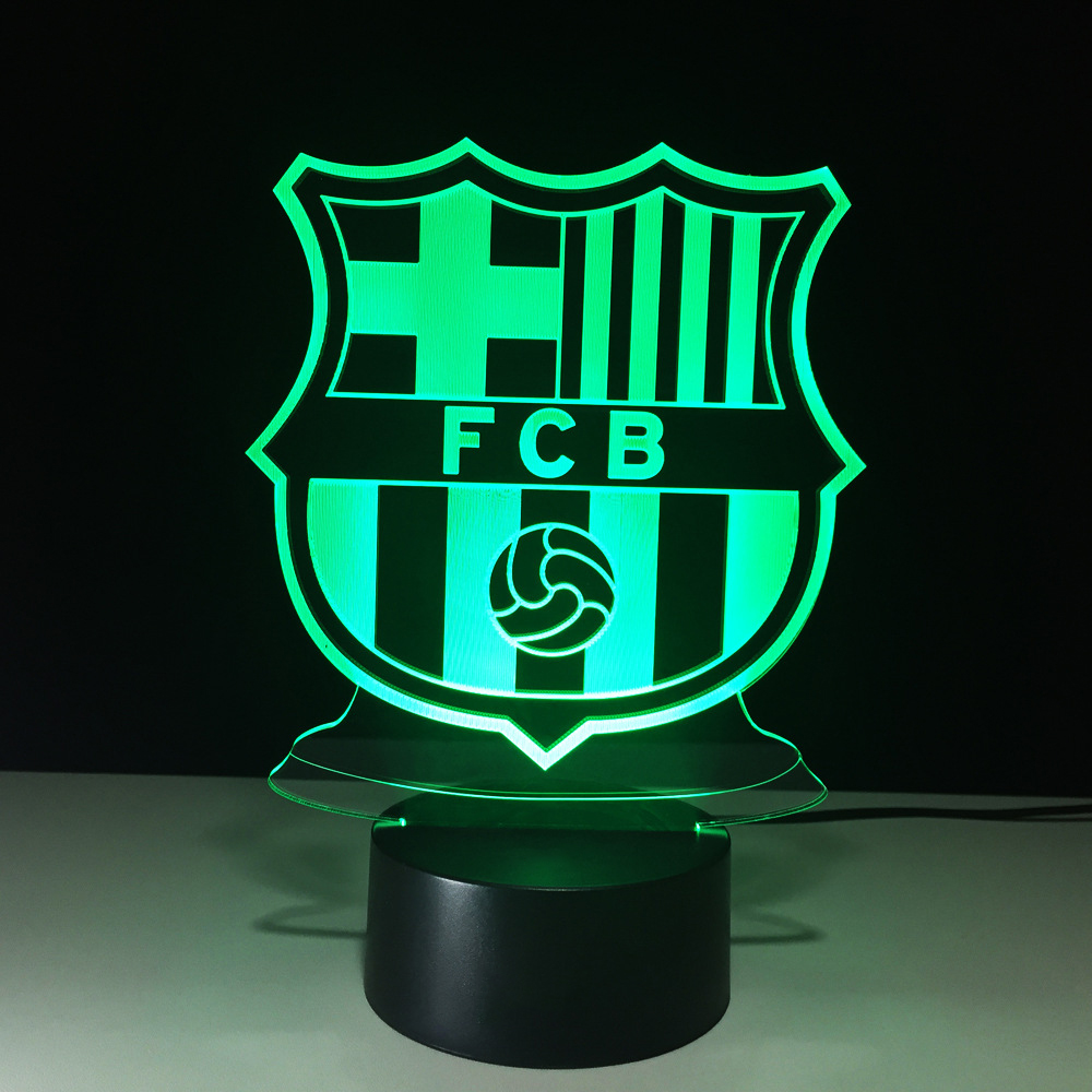 3D Soccer Sports Night Light LED Touch Visual Decor Futbol Football Table Lamp 7 Color Changing USB Baby Sleep Lighting Kid Gift 7 color change 3d led visual naruto modelling anime figure night light kids touch button usb table lamp home decor lighting gift