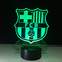 3D Soccer Sports Night Light LED Touch Visual Decor Futbol Football Table Lamp 7 Color Changing