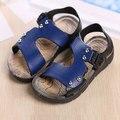 Venta caliente 2016 niños del verano calzan sandalias de los muchachos de la manera antideslizantes niños zapatos de niños zapatos de bebé del muchacho de los niños zapatos