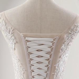 Image 5 - Fansmile İllüzyon prenses gelin balo gelinlik 2020 Vestido De Noiva artı boyutu özelleştirilmiş gelinlikler FSM 561F
