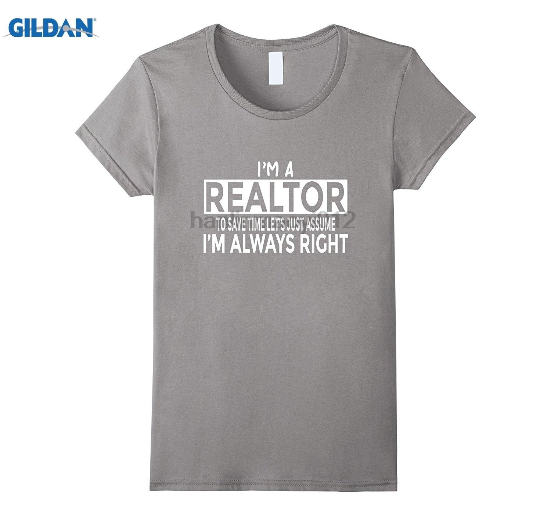 Возьмите забавные агент по недвижимости футболка просто предположить я всегда прав футболка с принтом очки Для женщин футболка
