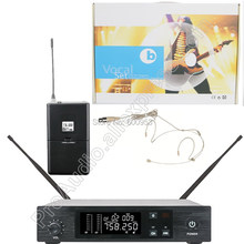 MICWL QLXD UHF сценическая производительность беспроводная гарнитура караоке микрофон Система бежевый всенаправленный головной убор