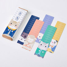 30 pcs box small animal big world cartoon paper bookmarks kawaii children stationery office school supplie