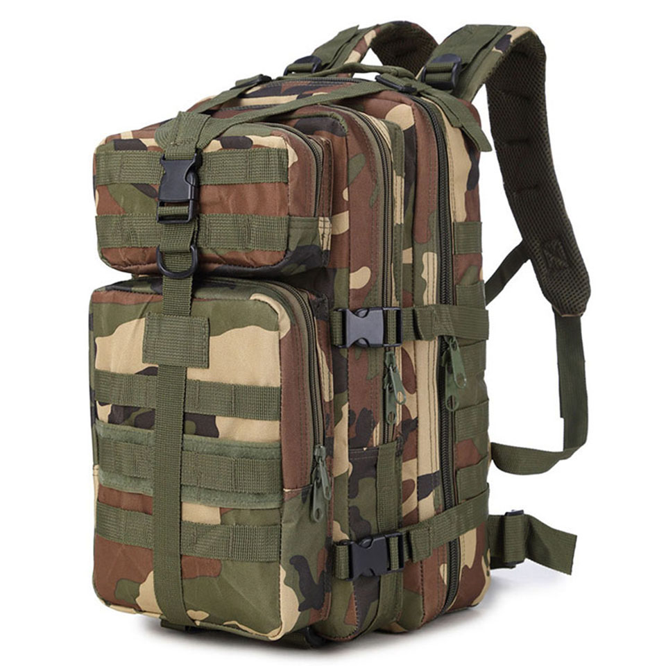 35L Military Tactical Assault Pack Backpack Army Molle Waterproof Bag Out Bag Small Rucksack for Outdoor Hiking Camping Hunting lqarmy 3 day expandable backpack with waist pack large rucksack tactical backpack molle assault bag for day hiking tan