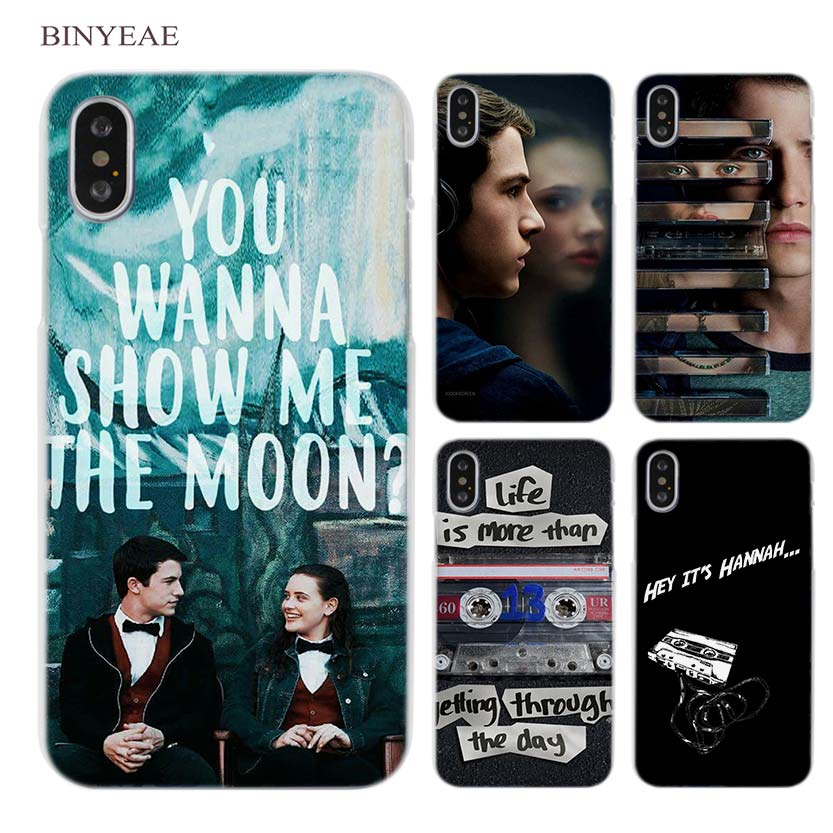 BINYEAE <font><b>13</b></font> Thirteen <font><b>Reasons</b></font> <font><b>Why</b></font> Clear Cell Phone Hard <font><b>Case</b></font> Cover for <font><b>iPhone</b></font> X 6 6s 7 8 Plus 5 5s SE 5c 4 4s