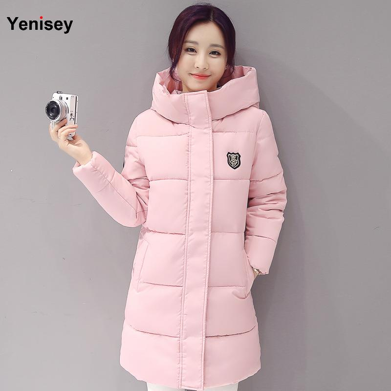 Hot sale 2019 Down   parka   women autumn winter coat down long coat 8665 winter jacket women coat