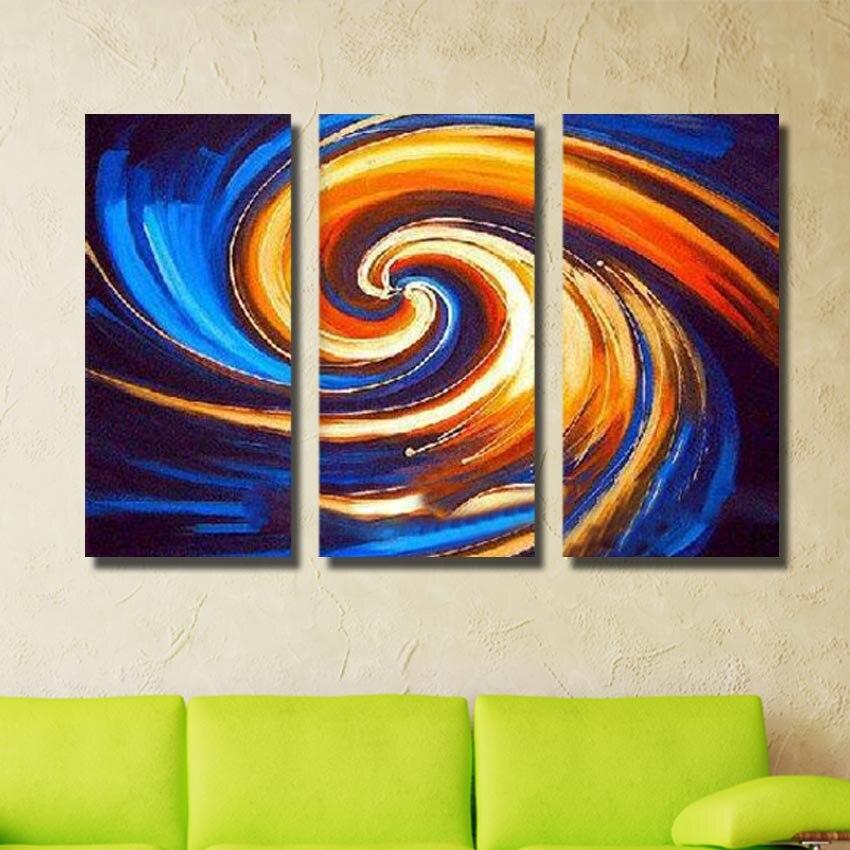 Pura dipinto a mano olio pittura il salotto della moderna arte astratta della parete 3 - Arte della casa ...