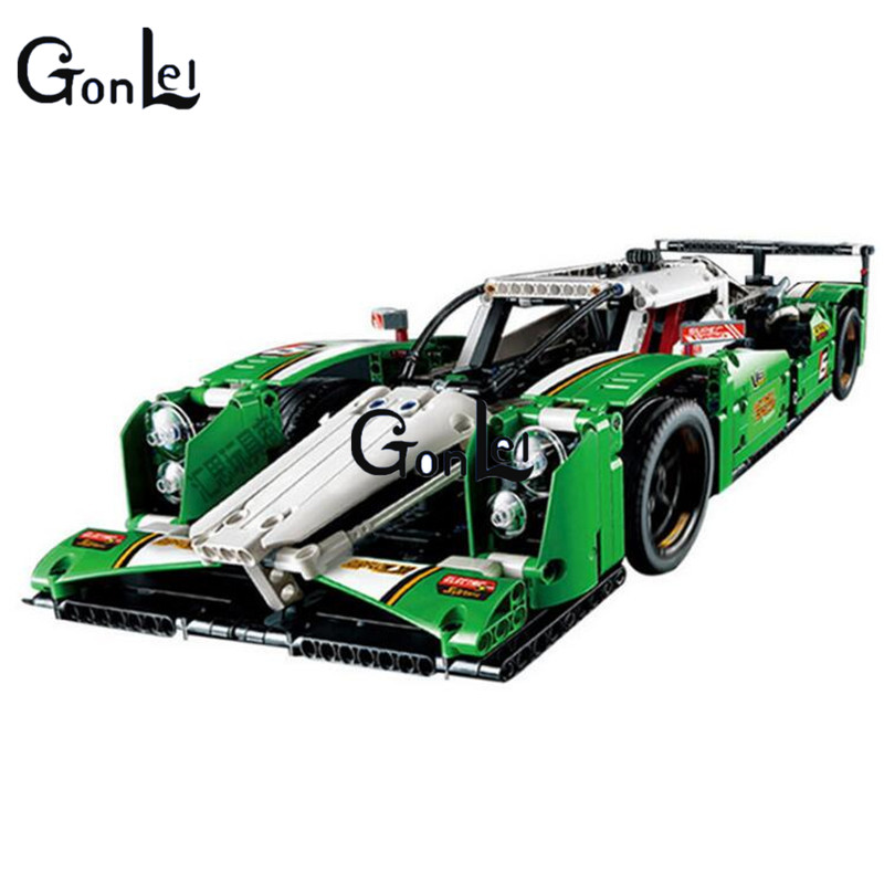 (GonLeI) 20003 1249Pcs Technic Series 24 Hours Race Car Model Building Kit Blocks Brick Toy Vehicles With цена