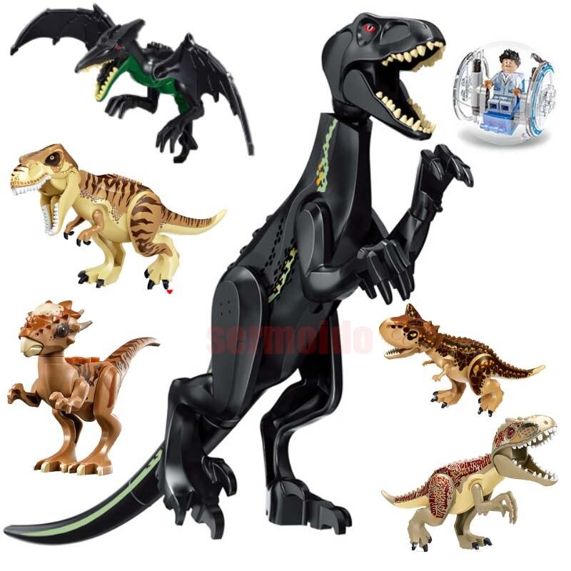 Dinossauro do jurássico Mundo 2 Figura Building Block Bricks Toy Dinossauro Tiranossauro Rex Compatível com Legoings