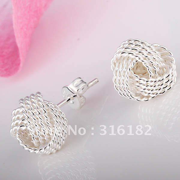 Good Quality E13 Possessing Chinese Flavors 925 Silver Earrings Beautiful Wholesale Fashion Jewelry Earrings Nice Jewelry