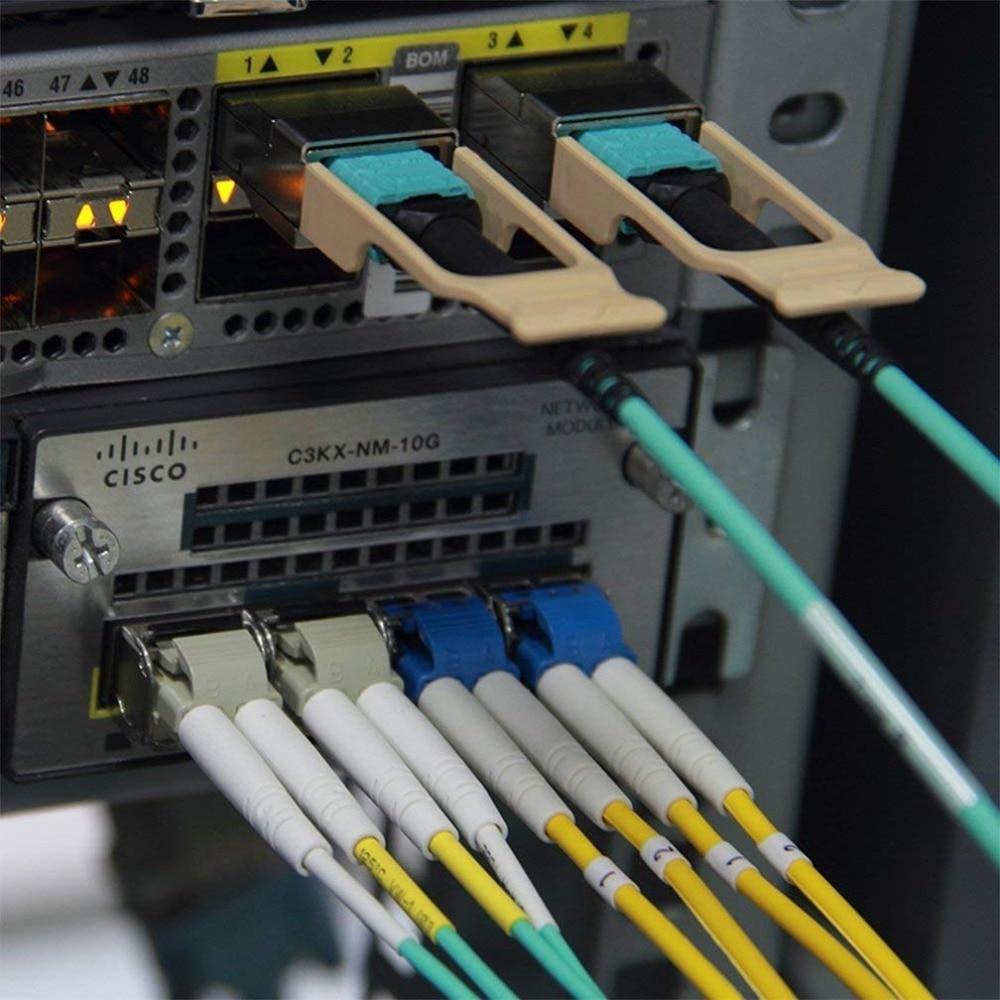 10Gtek 5 미터 (16.5feet) MPO-MPO 패치 코드, OM3 멀티 모드 - 통신 장비 - 사진 6