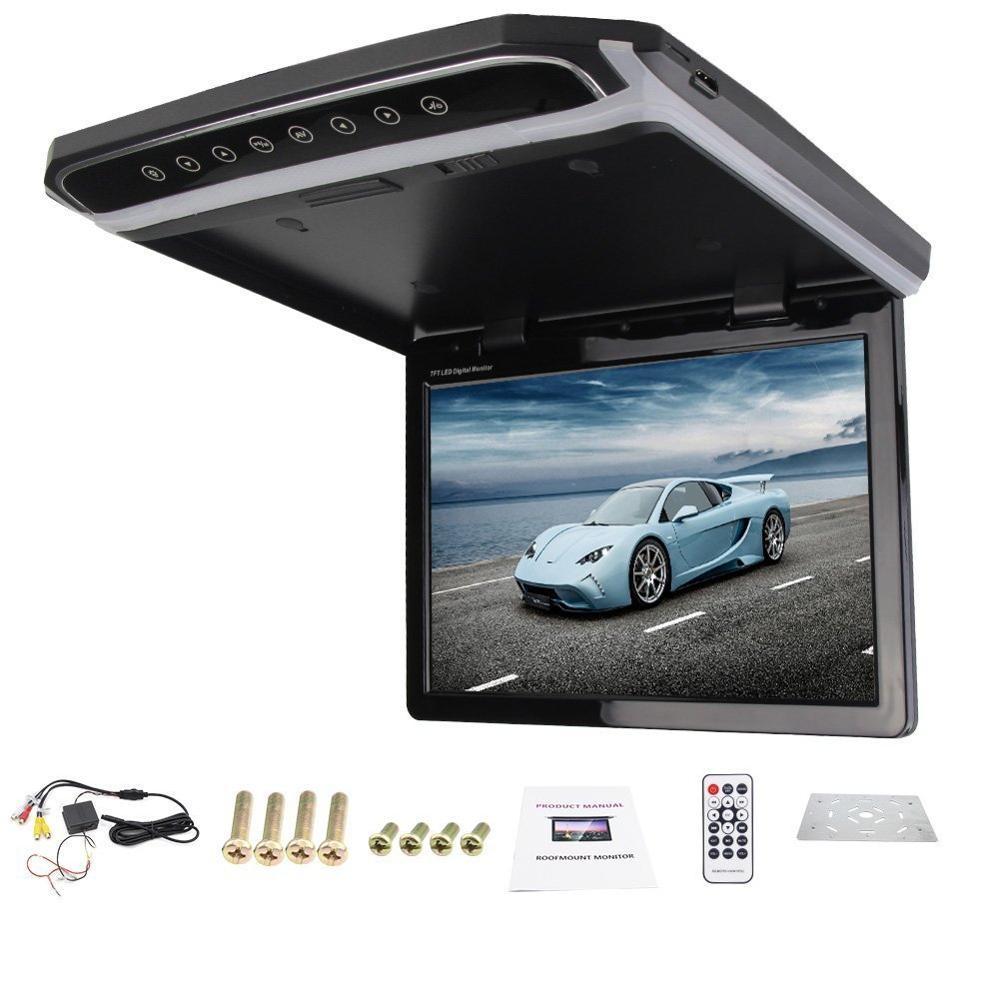 New HD 1080P Black 12 1 LED Digital Screen 12V 24V Roof Mounted Car font b