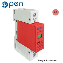 купить OPEN LBO-B60 Series Household SPD Surge Protector 1P 30kA 60kA 380VAC Low Voltage Arrester Device Red дешево