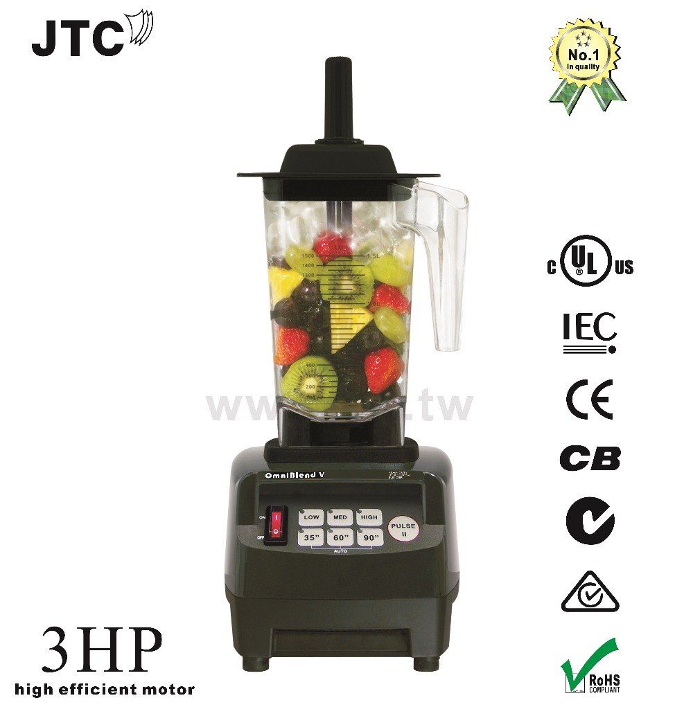 JTC Omniblend Professional Commercial Blender With PC Jar, Model:TM-800A, Black