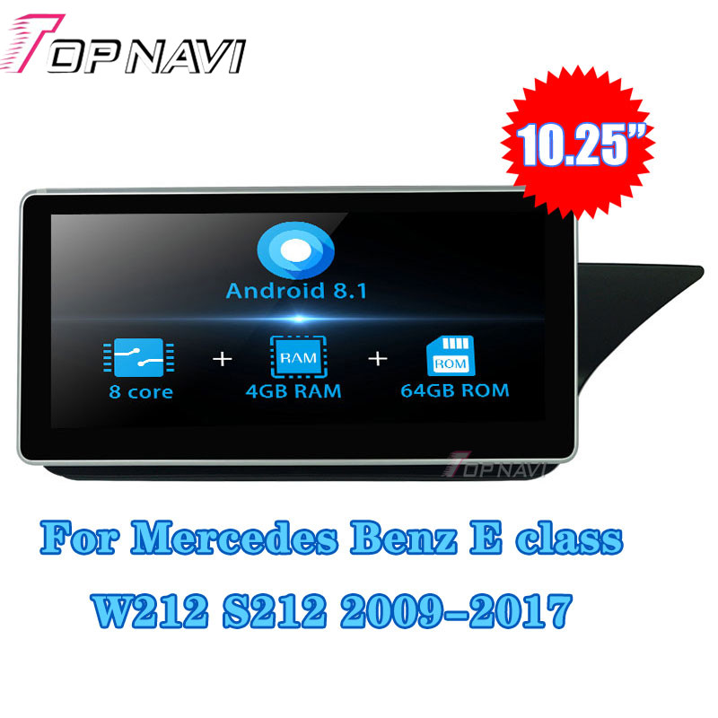 Autoradio 10.25''Android 8.1 Car Radio GPS Navigation For <font><b>Mercedes</b></font> Benz E class <font><b>W212</b></font> S212 2015-2016 Stereo <font><b>Multimedia</b></font> player1Din image