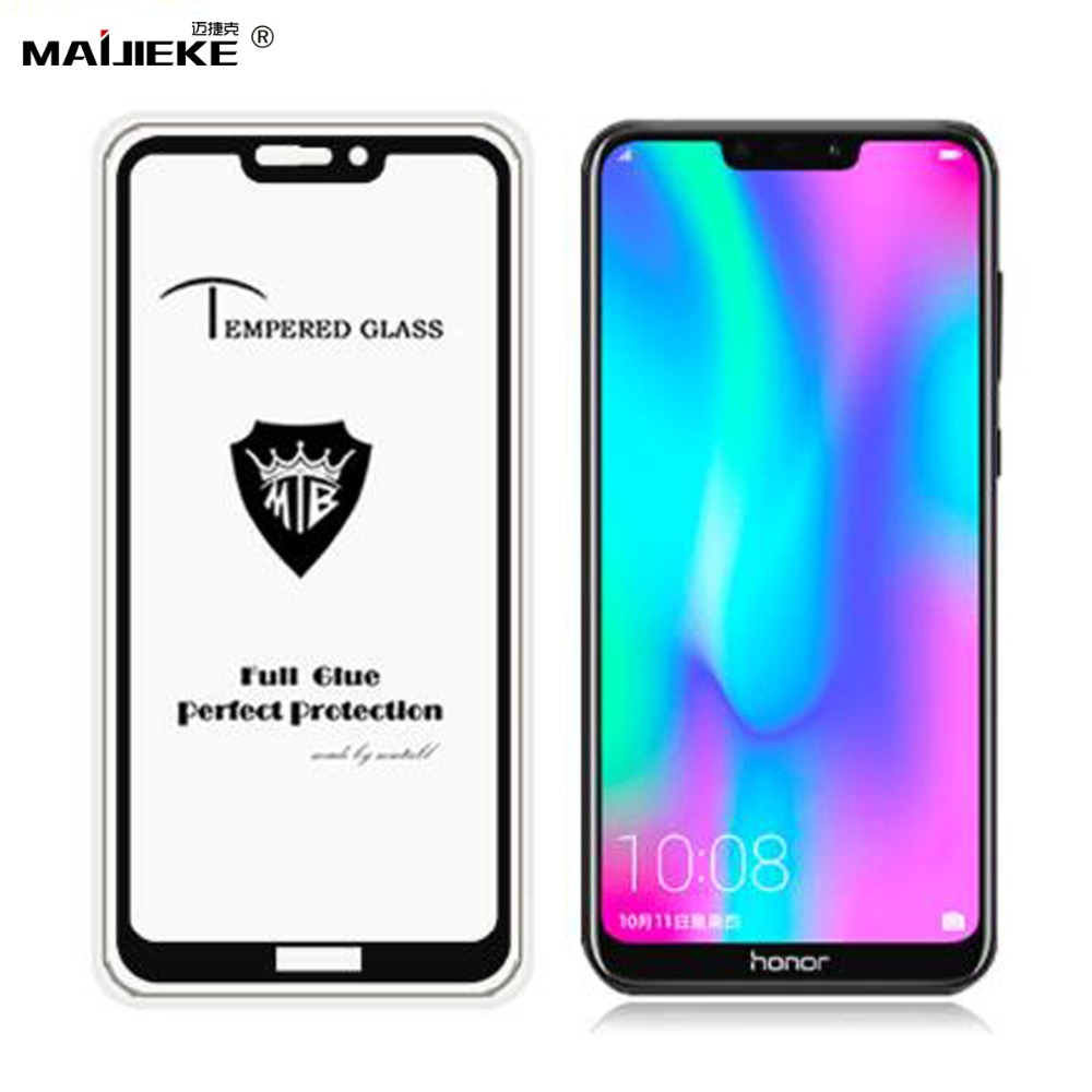 Full Glue Tempered Glass For Huawei Nova four Honor 8C 8X Display screen Protector On Honor 8A 9N 9I 2018 Honor 10 Lite Tempered Glass