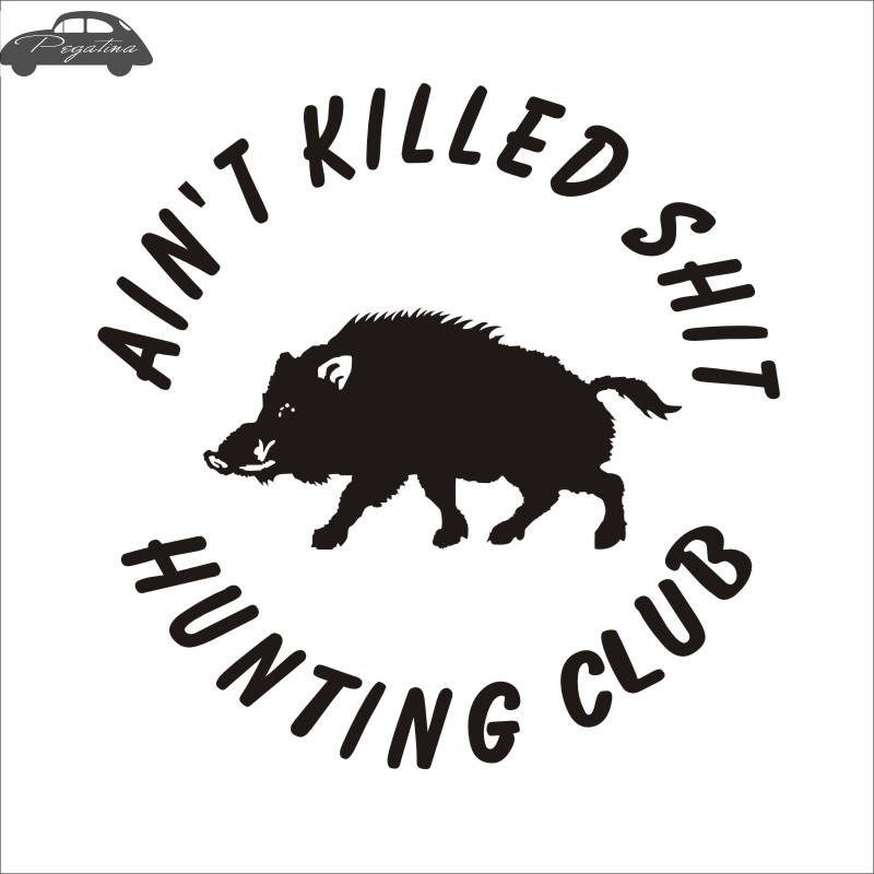 pegatina hunt shoot boar decal hunting club sticker hollow sticker hunter car window vinyl decal
