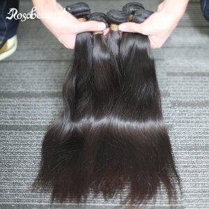 Image 4 - Rosabeauty Natural Color Long Peruvian Hair Straight Human Hair Weave 3 4 Bundles Unprocessed Raw Virgin Hair 30 28 Inches