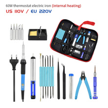 60w Electric Soldering Irons 220V/110V Adjustable Temperature Soldering Iron Mini Handle Heat Welding Repair Tools Lutownica