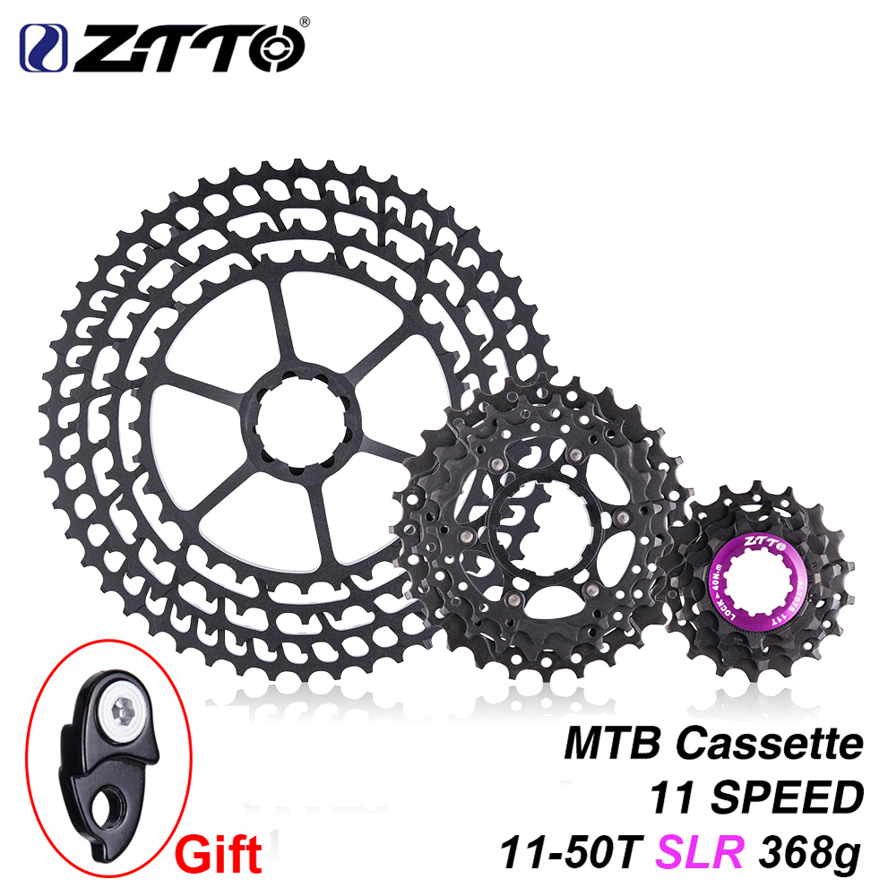 ZTTO MTB 11 Speed SLR 11 50T Bicycle Cassette 11s Ultralight CNC Colorful Freewheel Mountain Bike