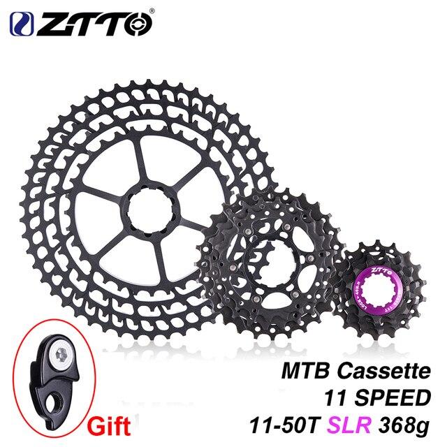 ZTTO vtt 11 vitesses SLR 11-50T Cassette de vélo 11s ultra-léger CNC coloré roue libre VTT pignon HG moyeu XX1 gx m9000