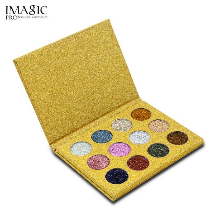 1 pcs Professional 12 cores de Maquiagem Paleta da sombra Da Sombra de Olho Brilhante Rainbow Pearl Glitters Diamante Olho Cosméticos Fácil Tomar