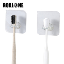 GOALONE 3Pcs/Set Suction Toothbrush Holder Portable Wall Mounted Removable Tooth Brush Stand Bath Accessories