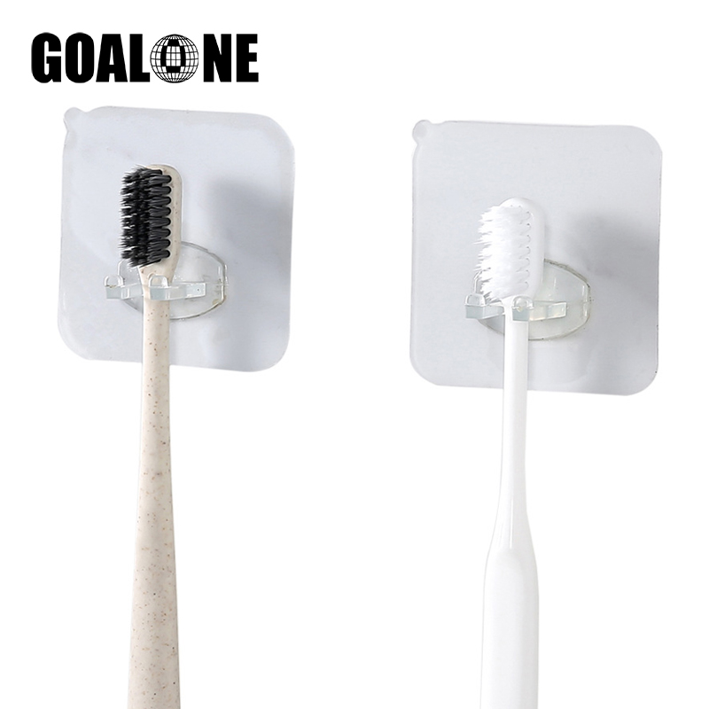 GOALONE 3Pcs/Set Suction Toothbrush Holder Portable Wall Mounted Toothbrush Holder Removable Tooth Brush Stand Bath Accessories image