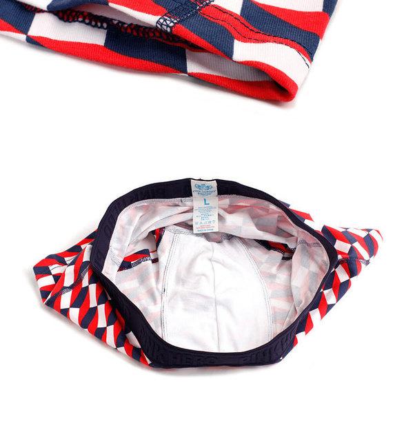 pink hero Printing Male Geometry Pattern Elastic Force boxershorts men Cotton Straight Underpants mens men's underwear boxers