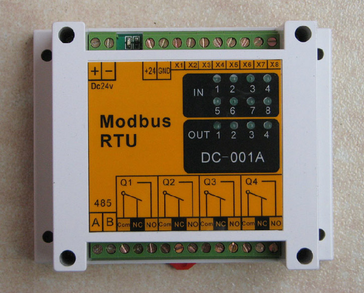 цена на Modbus Module 485 Interface 8 Input 4 Output Module IO Switch Module Can Communicate with PLC.