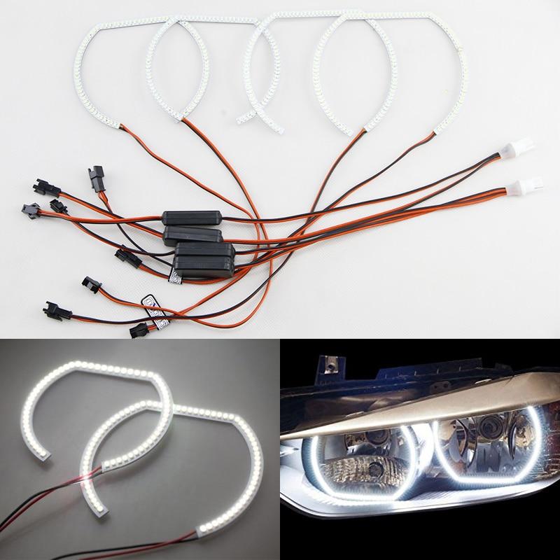 Kit d'anneaux de Halo d'yeux d'ange de Led blanches du xénon 8000 K pour Bmw série 3 E92 E93 F30 F31 F34 avec les anneaux automatiques de phares d'halogène Standard