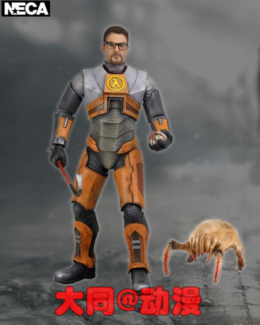 NECA Half-Life Gordon Freeman Half-Life Gordon 7-Inch Mobile Doll Hands half a life
