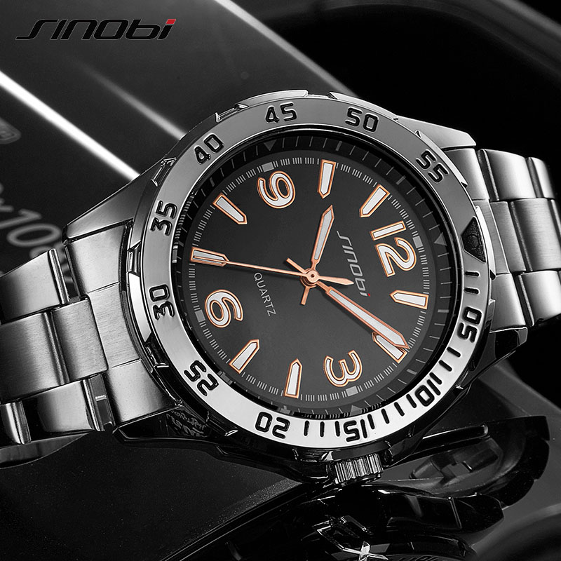 SINOBI Men Watch Top Brand Luxury Fashion 2017 Sport Casual Simple Luminous Military Army Quartz Wrist Watches Relogio Masculino liebig luxury brand sport men watch quartz fashion casual wristwatch military army leather band watches relogio masculino 1016