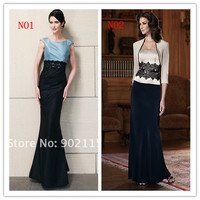Free Shipping 2013 Full Length Mother Of The Bride Dress With Free Jacket Lady Formal Dress