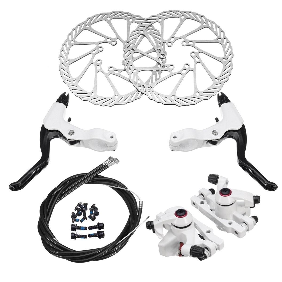 Vélo vélo frein à disque ensemble vélo frein ensemble avant arrière mécanique frein à disque étrier 160mm Rotors nouveau vtt vélo frein disque