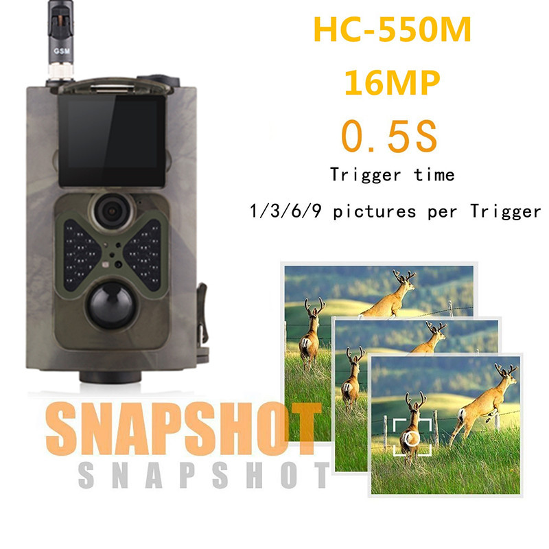 HC550M 16MP HD GSM MMS GPRS SMS Control Scouting Infrared Trail Hunting Camera HC 550M Wildlife Trail Camera HC-550M sim900a development board gsm gprs stm32 module sms wireless data dtmf mms