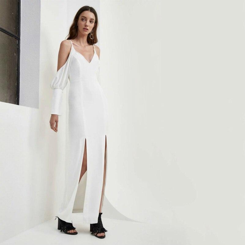 Manches Muxu Jurk Shipping Jarretelles Robe Noir Longue white Femme Sexy Longues  Nu Black À Robes Vêtements Drop Dos ... aceb5b5a45f