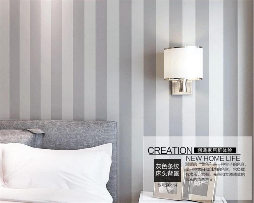 Beibehang coloured 3d wallpaper vertical stripes wallpaper bedroom 3 d light grey 0.53 x10 m sitting room wallpaper for walls 3d coloured maxlife