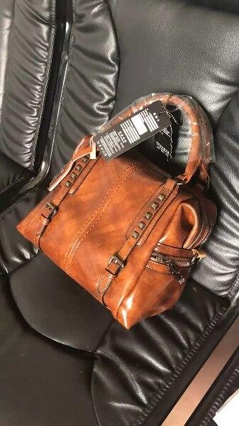 New Vintage Genuine Leather Oil Wax Luxury Handbags Women Bags Designer Modis Shoulder Messenger Bag Famous Brand Neutral Female photo review