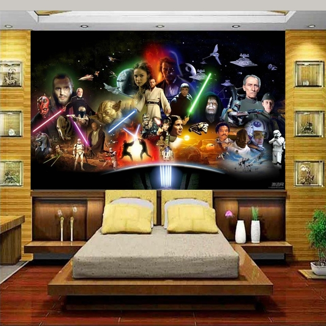 Custom photo 3d bed room wallpaper Non-woven mural 3d Star Wars Star Wars 3d wall murals wallpaper for walls decoration painting