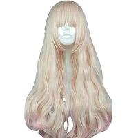 MCOSER 70cm Long Synthetic Wavy Burhundy Cosplay Wig Mix Color 100% High Temperature Fiber WIG 700A