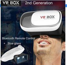 2016ขายใหม่VRกล่อง2.0ความจริงเสมือนแว่นตา3D VRกล่องII 2 +บลูทูธควบคุมระยะไกล+ฟิล์มป้องกัน+กล่องของขวัญ