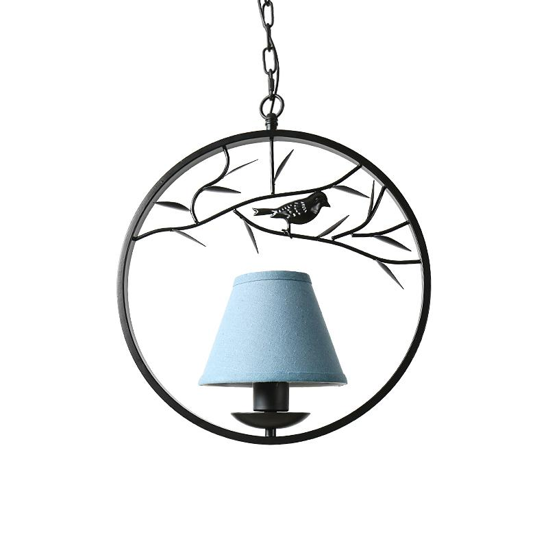 French American Style Rural Fashion Pendant Light Iron Art Retro Living Room Bedroom lamps Restaurant Birdie Hanging Lights american style crystal pendant light iron retro gold circular lamps for hotel living room restaurant bedroom dhl free