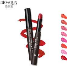 Bioaqua бренд 8 расцветок увлажняющий Губная Помада карандаш Макияж питательный бальзам пигмента Обнаженная Matte Lip Stick ручка длительный косметический