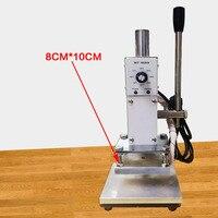 8 10CM Hot Pressure Marking Machine 110V 220V Leather PU Gold Foil Stamping Embossing Printer Manual