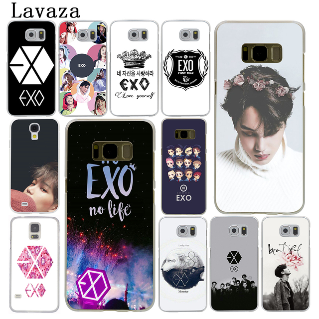 best service 79a8e f5afa US $1.99 26% OFF|Lavaza EXO band Hard Phone Case for Samsung Galaxy S6 S7  Edge S8 S9 S10 Plus S10e Cover-in Half-wrapped Case from Cellphones & ...