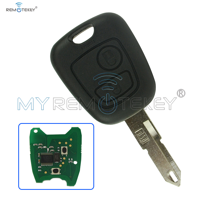 fits to peugeot 206 2 buttons fob car remote key 433mhz. Black Bedroom Furniture Sets. Home Design Ideas