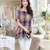 Nueva Summer Casual Camisas de Las Mujeres Más Tamaño Ropa de Mujer Corto Algodón y Lino de Las Mujeres de la manga Loose fit Tops Femeninos de la Tela Escocesa A878